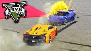 GTA V Online: CARROS x CARROS - FRENÉTICO no MODO ADVERSÁRIO!!