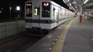 東武8000系8562F佐野行 館林出発
