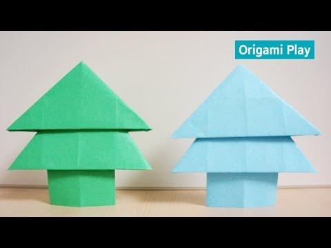 전나무 종이접기 ASMR Origami Fir Tree