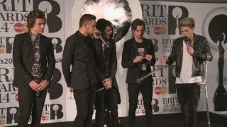Brits 2014 Winners Room: One Direction
