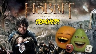 Annoying Orange - THE HOBBIT: BATTLE OF THE FIVE ARMIES TRAILER Trashed