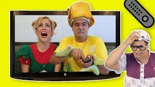 فوزي موزي وتوتي – مشاهدة التلفزيون – Watching TV