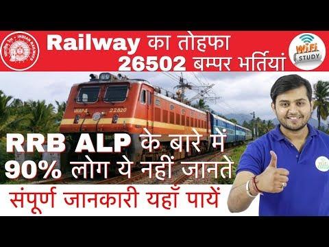 RRB ALP 2018 Notification Out   Railway का तोहफा 26502 बम्पर भर्तियां