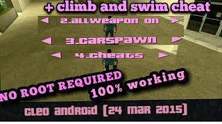 HOW TO DOWNLOAD GTA CLEO AND CLIMBING AND SWIMMING CHEAT WITHOUT ROOT