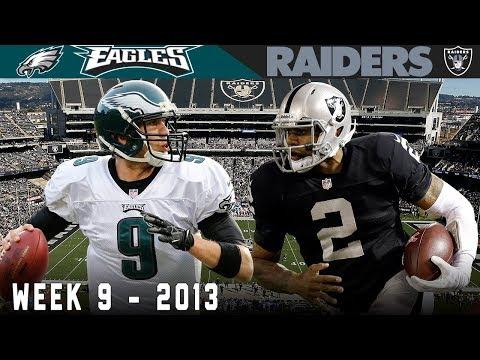 Nick Foles Historic 7 Touchdown Game Eagles vs. Raiders 2013