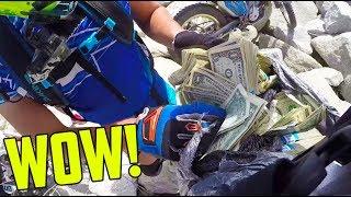 FOUND BAG FULL OF MONEY!