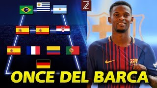 Así será el Once del Barcelona con Nélson SEMEDO   Temporada 2017/18