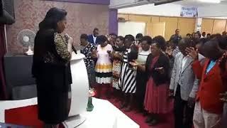 Prophetess Martha Nganga of CFF Church Mombasa ministering at the Chosen Generation Church