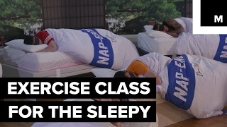Exercise class is all sleep, no workout