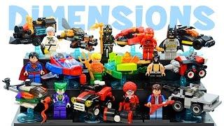LEGO Dimensions KnockOff Minifigures + Mini-Builds Set Review w/ Batman Superman Joker & Ninjago