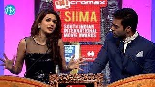 Navdeep and Shraddha Das Funny Controversy @ SIIMA Awards 2014