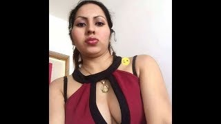 Beatuiful indian girl was live chat in the car.