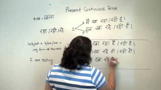 Hindi Grammar: The present continuous tense