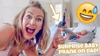 SURPRISE BABY PRANK ON DAD!!!