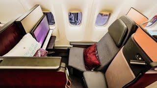 Qatar Airways Business Class - NEW QSuite - Boeing 777-300ER - London Heathrow to Doha
