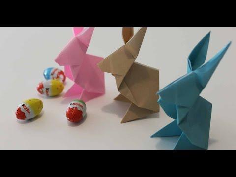 Origami Paper - Cute Origami Bunny - Easter Rabbit