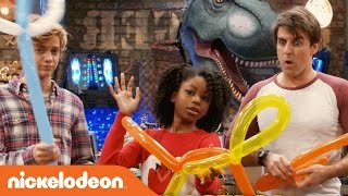Henry Danger   Jace Norman, Riele Downs & Cooper Barnes Do the Balloon Challenge   Nick