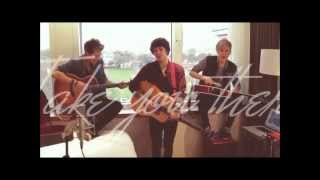 The Vamps - Kiss You Lyrics Video (Cover one direction)
