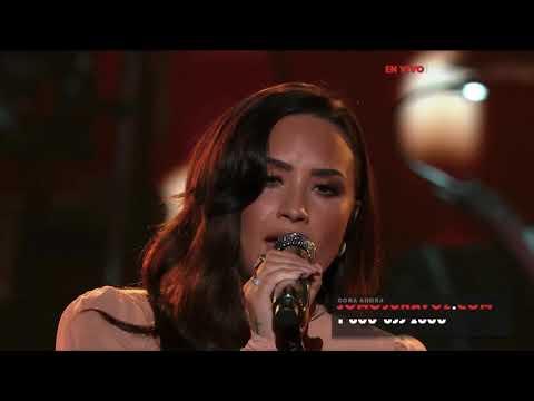 Demi Lovato Hallelujah Live at SOMOS Live October 14