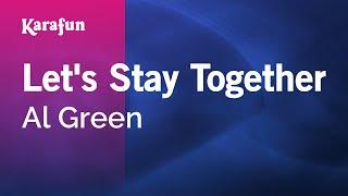 Karaoke Let's Stay Together - Al Green *