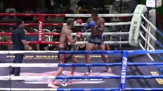 Dave Leduc (Tiger Muay Thai) vs Carlos (Phuket Fight Club) @ Rawai Boxing Stadium 2/4/16