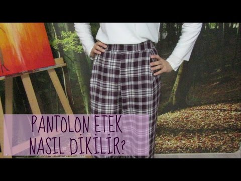 PANTOLON ETEK NASIL DİKİLİR? | Aslı, 2016