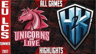 Unicorns of Love vs H2K Highlights ALL GAMES EU Regionals Worlds Qualifier 2017 Round 2 UOL vs H2K