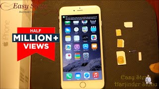 How to use Standard SIM in iPhone 6 Plus | make Nano SIM | metroPCS | T-Mobile