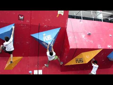 2012 Boulderactive - Men's Novice Qualification Problem 3 - Fong Yat Nam