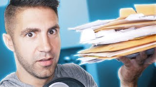 OPENING A LOT OF MAIL