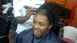AT THE BARBERSHOP (SHED TEARS)