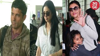 Farhan Akhtar & Sridevi Snapped At The Aiport | Sushmita Sen Poses With Daughters At The Airport