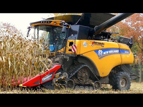 New Holland CR 10.90 on tracks Corn and Corn Cob Harvest Aernouts Tax