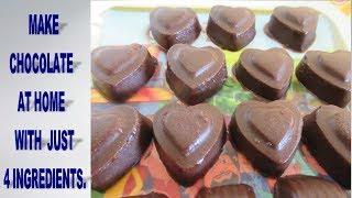 चॉकलेट बनाइये घर में।Milk Chocolate Recipe- Home Made Chocolate recipe