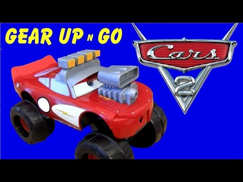 Caminhão Relampago McQueen Gear Up n Go BigFoot Monster Truck Lightning McQueen Brinquedos Disney