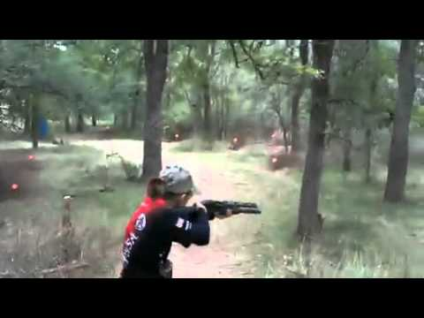 A 13 year old girl knows well how to use weapons