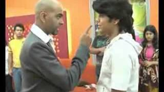 Lovers fight on TV, Raghu Ram throws out guy (w/ subtitles)
