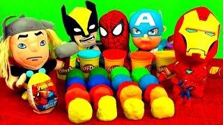 20 Surprise Eggs Play Doh Superheroes Spiderman Cars Batman Angry Birds Play-Dough Disney Pixar Toys
