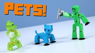 #Stikbot Pets Studio Dog & Cat training from Zing!