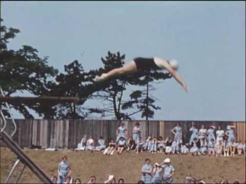 Kings Norton Girls' Outdoor Swimming Gala Rowheath Lido 1959