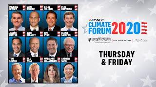 Watch Live: MSNBC's Climate Forum 2020 (DAY 2) | MSNBC