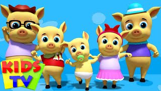 Pigs Finger Family | Five Little Piggies | Nursery Rhymes | Kids Songs