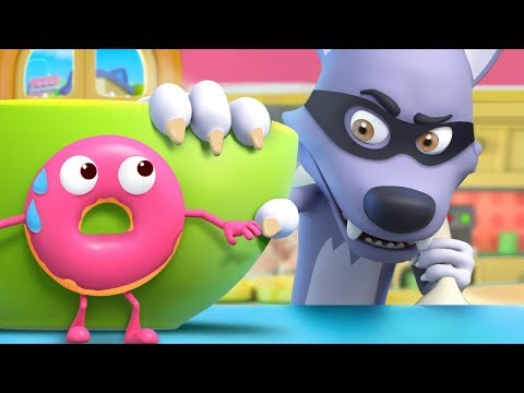 Donuts Run Away From Wolf Colors Song Vegetables Song Nursery Rhymes Kids Songs BabyBus