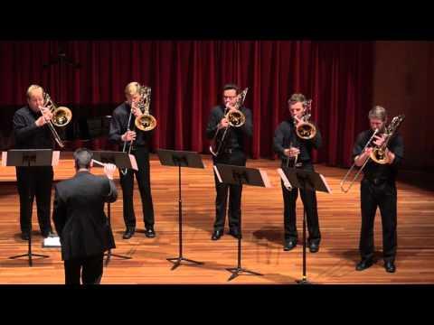 CSU Trombone Ensemble - The River Bells (Verhelst)