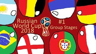 World Cup 2018 in countryballs (Prediction) #1 - Group Stages