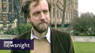 Scruffy Jeremy Corbyn winds up Tories in 1984 - BBC Newsnight