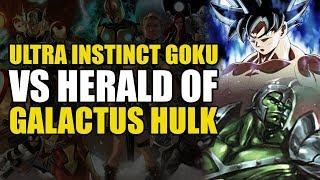 Ultra Instinct Goku vs Herald of Galactus Hulk