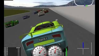 TORCS - The Open Racing Car Simulator - Chaos on F-Speedway (NASCAR)