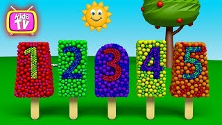 Learn numbers with Ice creams and toys. 3D Cartoons for children Video for kids