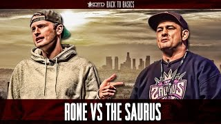 KOTD - Rap Battle - Rone vs The Saurus